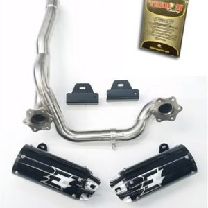 Empire industries 12-21 Can Am Outlander Dual slip on exhaust with The Bomb Racing tuner