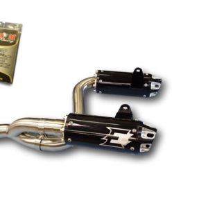 Empir eIndustries Dual Slip On Exhaust for 2012-20 Can AM Renegade with Fuel Controller