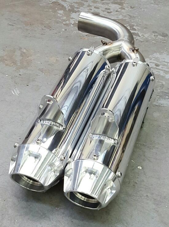 YXZ 1000R Dual Slip On Exhaust